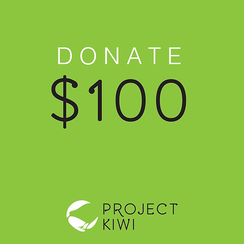 Donate $100 to Project Kiwi Trust