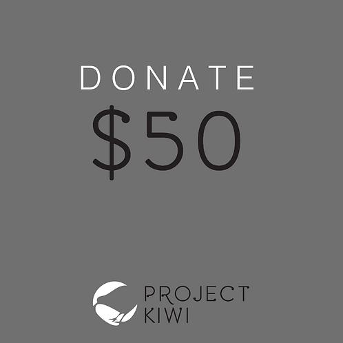 Donate $50 to Project Kiwi Trust