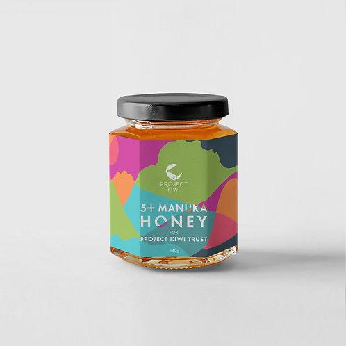 Project Kiwi 5+ Manuka Honey - Box of 12 Glass Jars