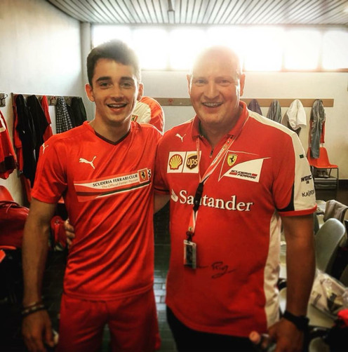 Con Charles Leclerc 2016