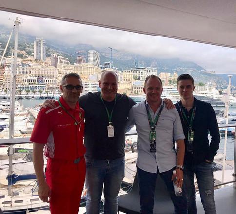 Il Team a Monaco F1