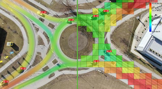 traffic density heatmap
