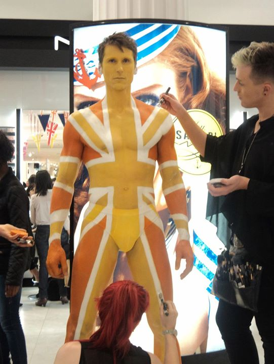 "Facebook - ""Big British Bang"" @ Selfridges - 6 models were bodypainted during 3"