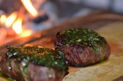 Juicy seared steak