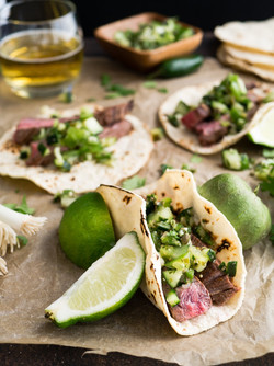 Zesty herb tacos