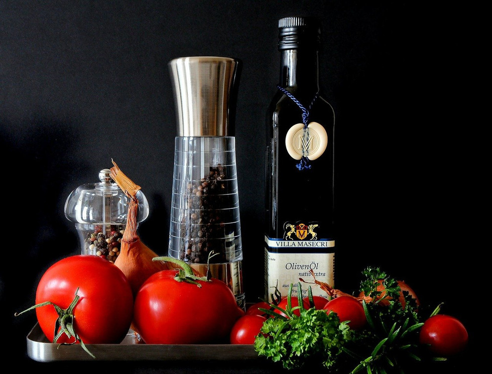 Healthy vegetables and oils