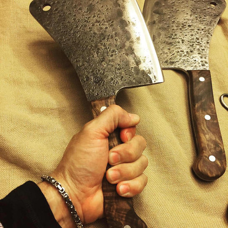 Walnut wood handles