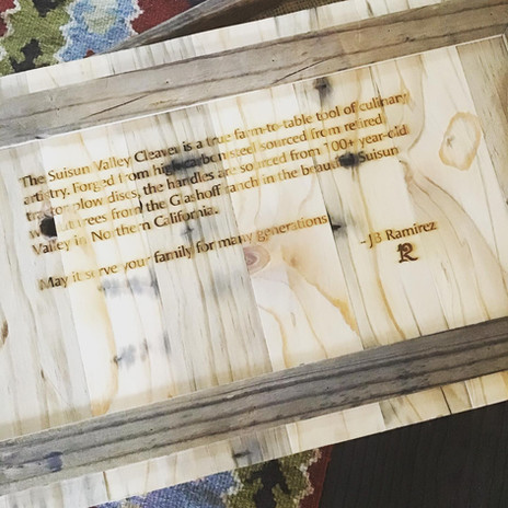Suisun Valley Cleaver Message