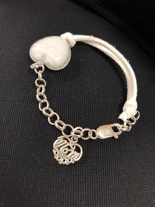"""Venetian Glass """"Mom"""" Bracelet"""