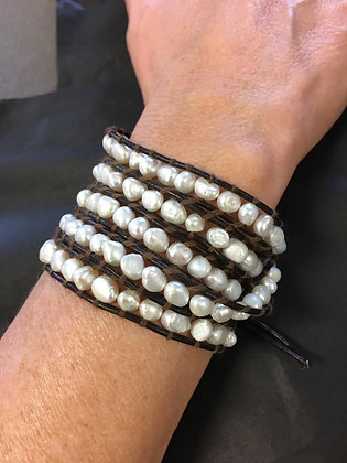 5 Strand-Pearl Wrap