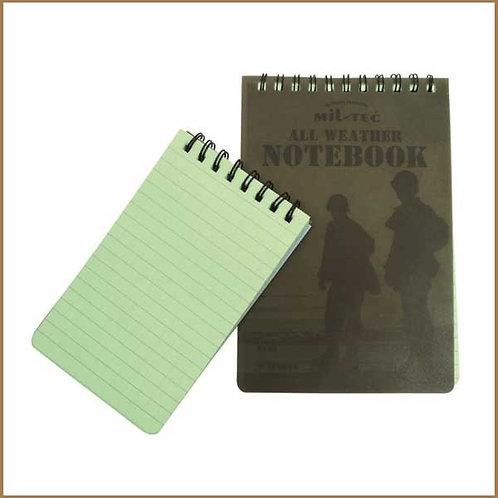 Mil-Tec Regnsikker Notesbog - Stor