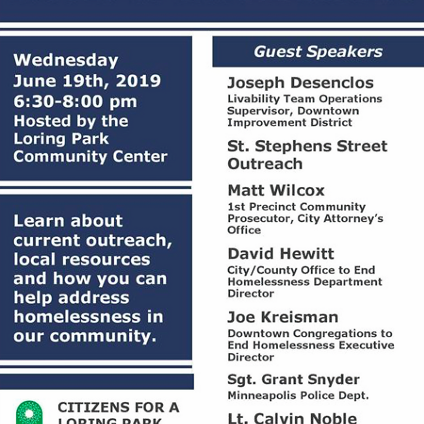 CLPC Livability Committee Presents: A Community Forum on the Issues of Homelessness