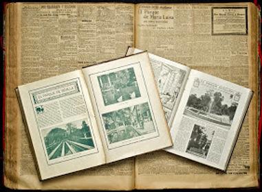 Prensa sevillana de la inauguración del Parque de María Luisa, 1914