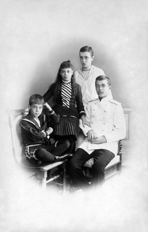 Από αριστερά: Μιχαήλ, Ξένια, Γεώργιος, Νικόλαος.