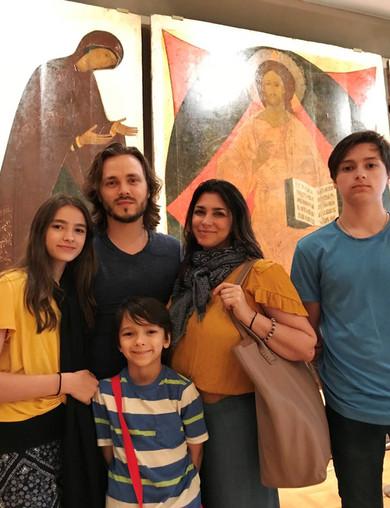 The Jackson family at the Tretyakov Gallery