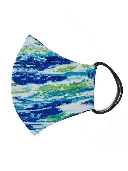 Многоразовая маска с рисунком «Синий мрамор»
