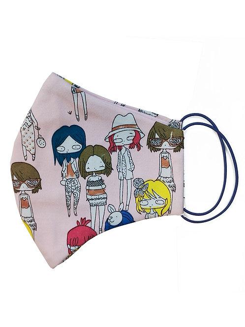 Многоразовая маска с рисунком «Девочки»