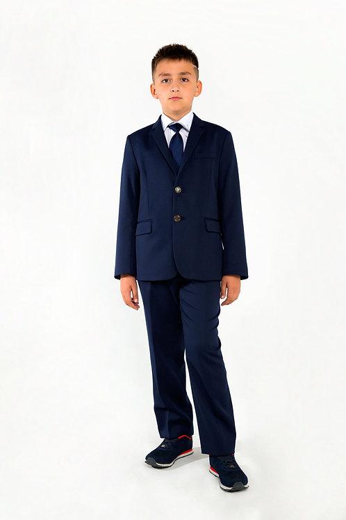 Брюки для мальчика, синие на резинке