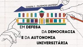 Chapa 1 reafirma compromisso com a democracia e a autonomia universitária.