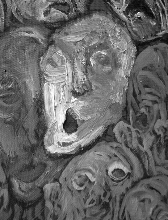 Los chafarderos (détail)