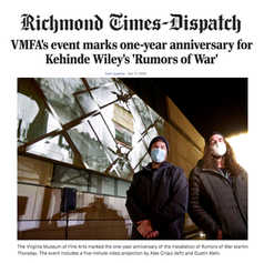 VMFA's event marks one-year anniversary for Kehinde Wiley's 'Rumors of War'
