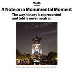 MOMA MAGAZINE - A Note on a Monumental Moment
