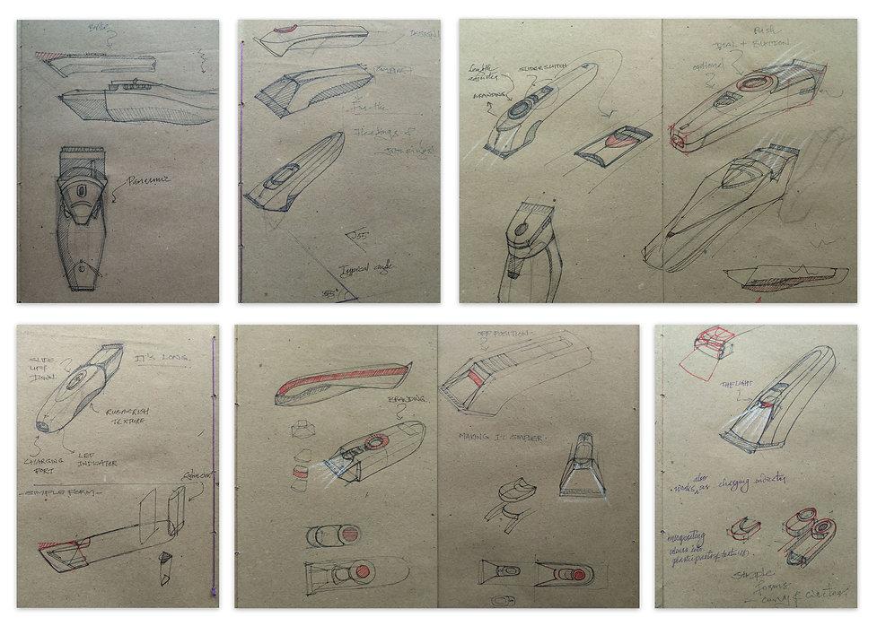 trimmer_exploration on rough sketchbook.
