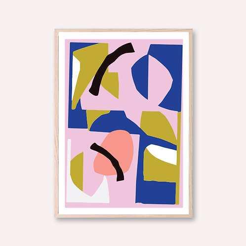 Colorful paper cut
