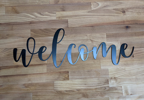 Welcome - Laser Cut Sign