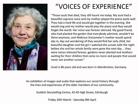 VOICES OF EXPERIENCE - Exhibition Dates