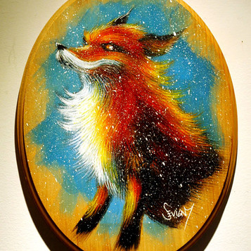 Fox on Wood