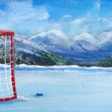Hockey Net in the Rockies