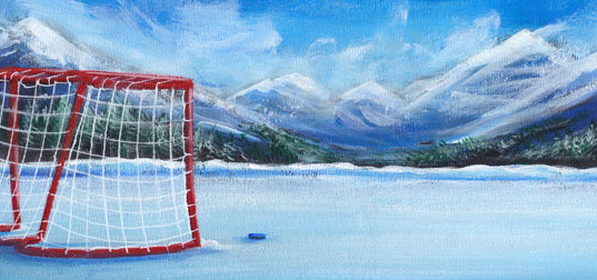 Hockey Net in the Rockies