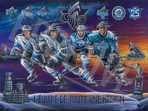 25th Anniversary Commemorative Painting - Rimouski Oceanic