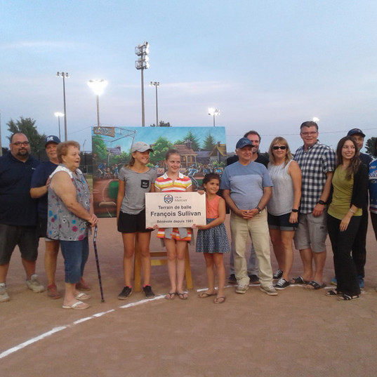 ABMM Association Baseball Mineur de Mercier -Inauguration Parc Sullivan