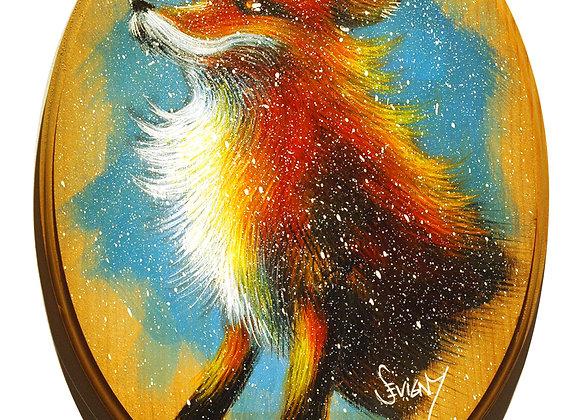 Fox on Wood