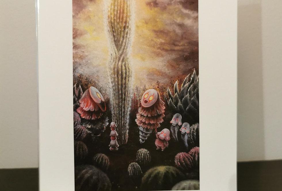 Illuminated cactus - Print