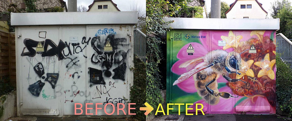 Before and after painting in mural new.j