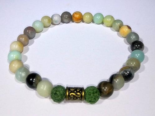 Green Earth Tone Aromatherapy Bracelet