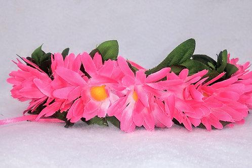 Pretty Pink Daisies, pink flower crown