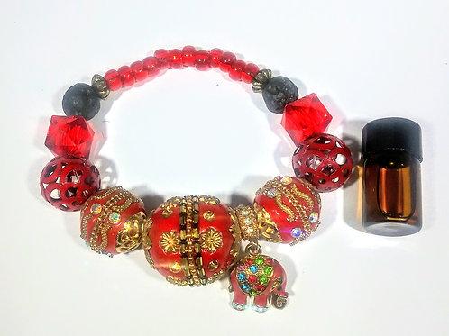 Red Elephant Aromatherapy Bracelet