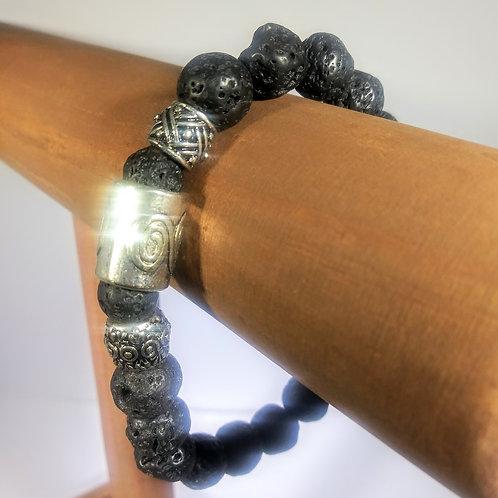 Strength Lava Rock #110 Aromatherapy Bracelet