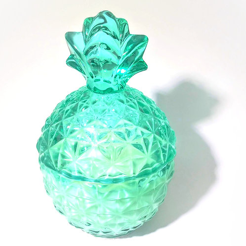 Soy Wax Candle in Teal Vessel