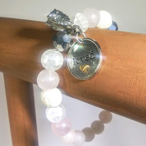 Loved by Hoo Rose Quartz #101 Aromatherapy Bracelet