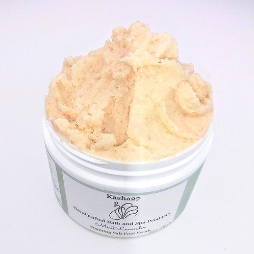 Mint Lavender Foaming Salt Foot Scrub