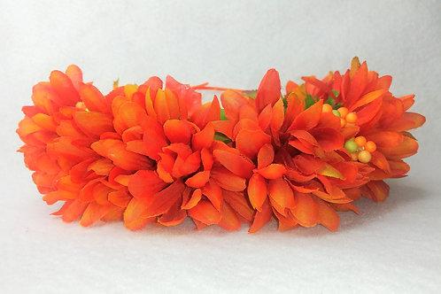 Welcome Autumn, orange flower crown