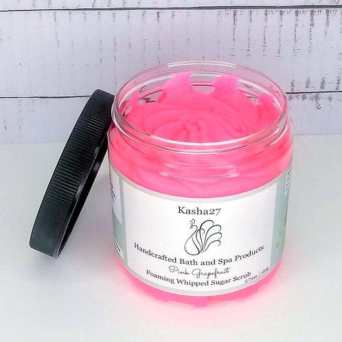 Pink Grapefruit Foaming Whipped Sugar Scrub