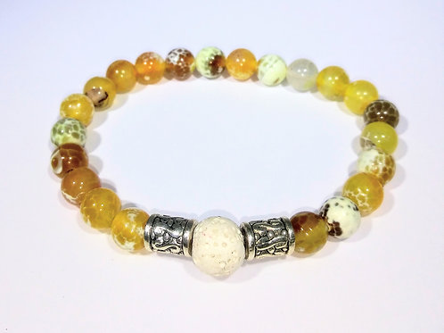 Golden Earth Tone Aromatherapy Bracelet
