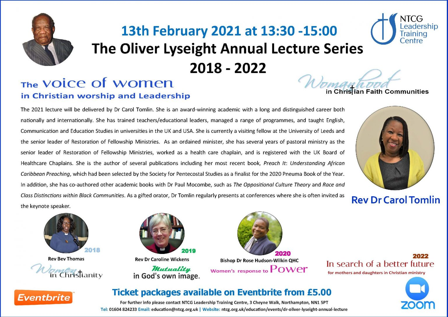 Oliver Lyseight Lecture 2021