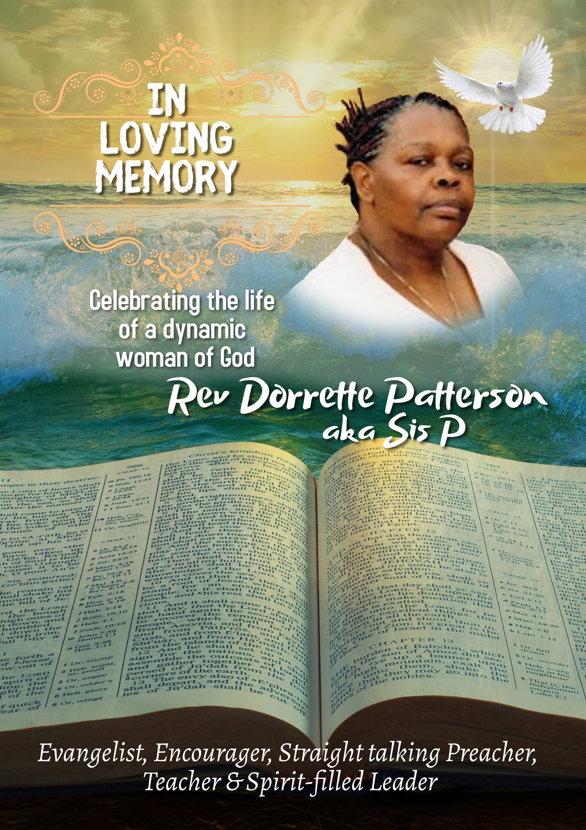 Memorial book to Rev Patterson
